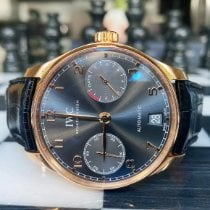 IWC Rose gold Automatic Grey Arabic numerals 42.3mm pre-owned Portuguese Automatic