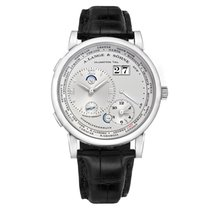 A. Lange & Söhne Platinum Manual winding Silver (solid) Roman numerals 41.9mm pre-owned Lange 1