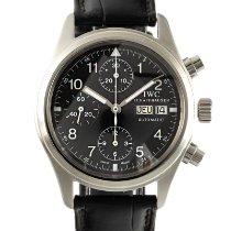 IWC Pilot Chronograph Steel 39mm Black