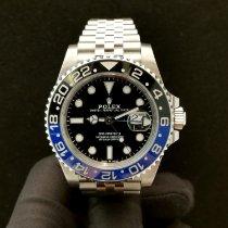 Rolex GMT-Master II Stahl 40mm Schwarz Keine Ziffern Schweiz, Lugano