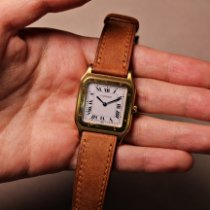 Cartier Santos Dumont pre-owned 27mm White Leather
