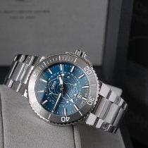 Oris Aquis Steel Blue No numerals