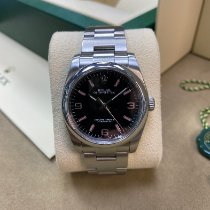 Rolex Oyster Perpetual 36 Steel 36mm Pink Arabic numerals