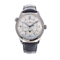 Jaeger-LeCoultre Master Geographic pre-owned 39mm GMT Crocodile skin