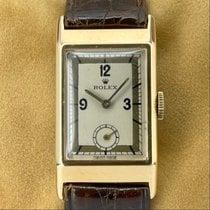 Rolex Prince Or jaune 20mm Argent Arabes