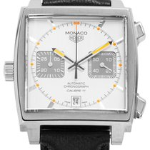 TAG Heuer CAW211C.FC6241 Steel 2016 Monaco Calibre 11 38mm pre-owned