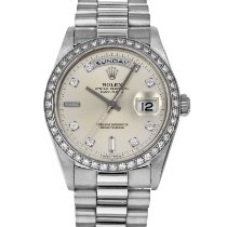 Rolex Day-Date Platinum 36mm Silver No numerals United States of America, Maryland, Baltimore, MD