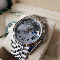Rolex Datejust Stahl 36mm Grau Römisch