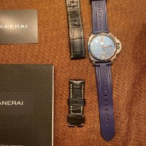 Panerai Luminor 1950 3 Days GMT Automatic Steel 44mm Blue Arabic numerals United States of America, New York, middletown