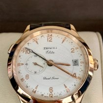 Zenith Elite Dual Time Rose gold 39mm Silver
