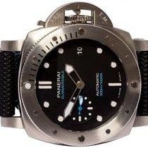 Panerai Luminor Submersible Сталь 42,00mm Черный Без цифр