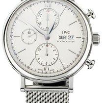 IWC Portofino Chronograph pre-owned 42mm Silver Chronograph Date Steel