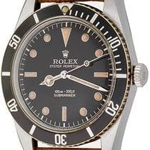 Rolex Submariner (No Date) Çelik 37mm Siyah Rakamsız