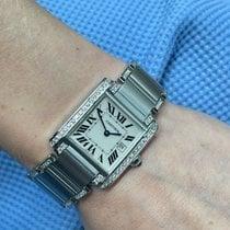 Cartier TankFrançaise钢25mm罗马数字美利坚合众国,纽约,纽约