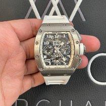 Richard Mille Bílé zlato Automatika Průhledná Arabské 50mm použité RM 011