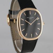 Patek Philippe Rose gold Automatic Black 34mm pre-owned Golden Ellipse