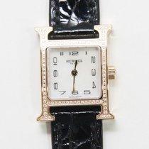 Hermès Heure H Złoto różowe 17.2mm