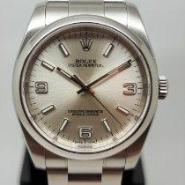 Rolex Oyster Perpetual 36 Stal 36mm Srebrny Arabskie
