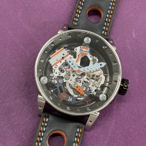 B.R.M new Automatic Display back Central seconds PVD/DLC coating 50mm Steel Sapphire crystal