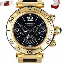 Cartier Pasha Seatimer Yellow gold 42mm Black Arabic numerals United States of America, New York, Smithtown