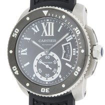 Cartier Calibre de Cartier Diver Сталь 42mm Черный