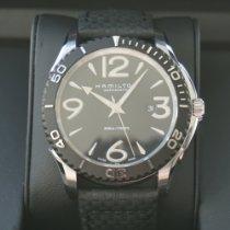 Hamilton Jazzmaster Seaview Steel 46.0mm Black Arabic numerals
