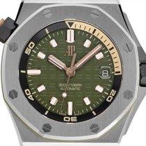 Audemars Piguet Royal Oak Offshore neu 2021 Automatik Uhr mit Original-Box und Original-Papieren 15720ST.OO.A052CA.01