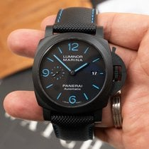 Panerai new Automatic Small seconds Luminous hands Luminous indices 44mm Carbon Sapphire crystal