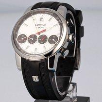 Eberhard & Co. Chrono 4 Stal 43mm Biały Bez cyfr