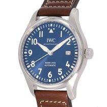 IWC 파일럿 마크 스틸 40mm 파란색 아라비아 숫자