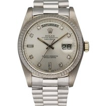 Rolex Day-Date 36 White gold 36mm Silver United States of America, New York, New York