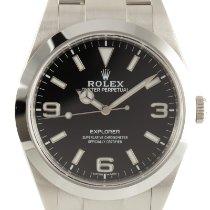 Rolex Explorer Steel 39mm Black