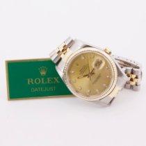 Rolex Datejust 16233 Très bon Or/Acier 36mm Remontage automatique