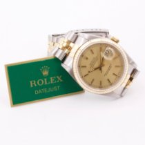 Rolex pre-owned Automatic 36mm Champagne Sapphire crystal 10 ATM