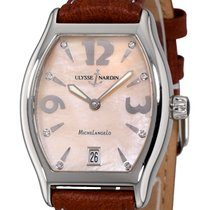 Ulysse Nardin Michelangelo pre-owned 34mm Mother of pearl Date Leather