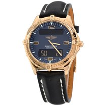 Breitling Aerospace Yellow gold 40mm Blue Arabic numerals United States of America, New York, Greenvale