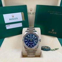 Rolex Sky-Dweller Steel 42mm Blue No numerals United States of America, New York, New York