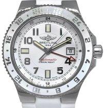 Breitling Superocean GMT Steel 41mm White Arabic numerals