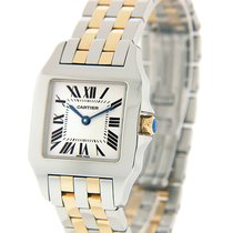 Cartier Santos Demoiselle pre-owned 26mm Champagne Gold/Steel