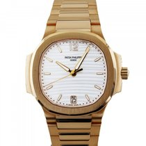 Patek Philippe Red gold Automatic Silver 35.2mm pre-owned Nautilus