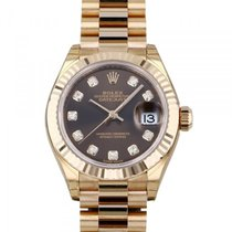 Rolex Red gold Automatic Brown 28mm new Lady-Datejust