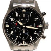 IWC 파일럿 크로노그래프 신규 자동 크로노그래프 시계 및 정품 박스와 서류 원본 IW377704