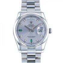 Rolex Day-Date 36 Platinum 36mm Silver