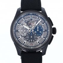 Zenith Carbon Automatic Silver 45mm pre-owned El Primero Lightweight