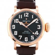 Zenith Red gold Automatic Black 45mm new