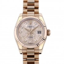 Rolex Red gold Automatic Pink 26mm new Lady-Datejust