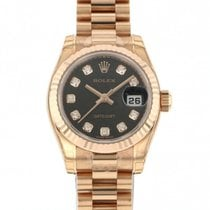 Rolex Red gold Automatic Black 26mm new Lady-Datejust