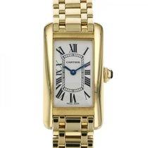 Cartier Tank Américaine Желтое золото 35mm Белый