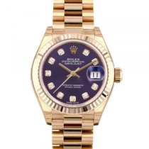 Rolex Red gold Automatic Purple 28mm new Lady-Datejust