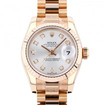 Rolex Red gold Automatic Silver 26mm new Lady-Datejust